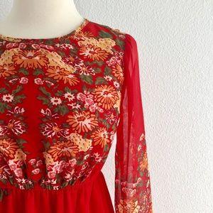 ASOS Maternity Floral Chiffon L/S Midi Dress!
